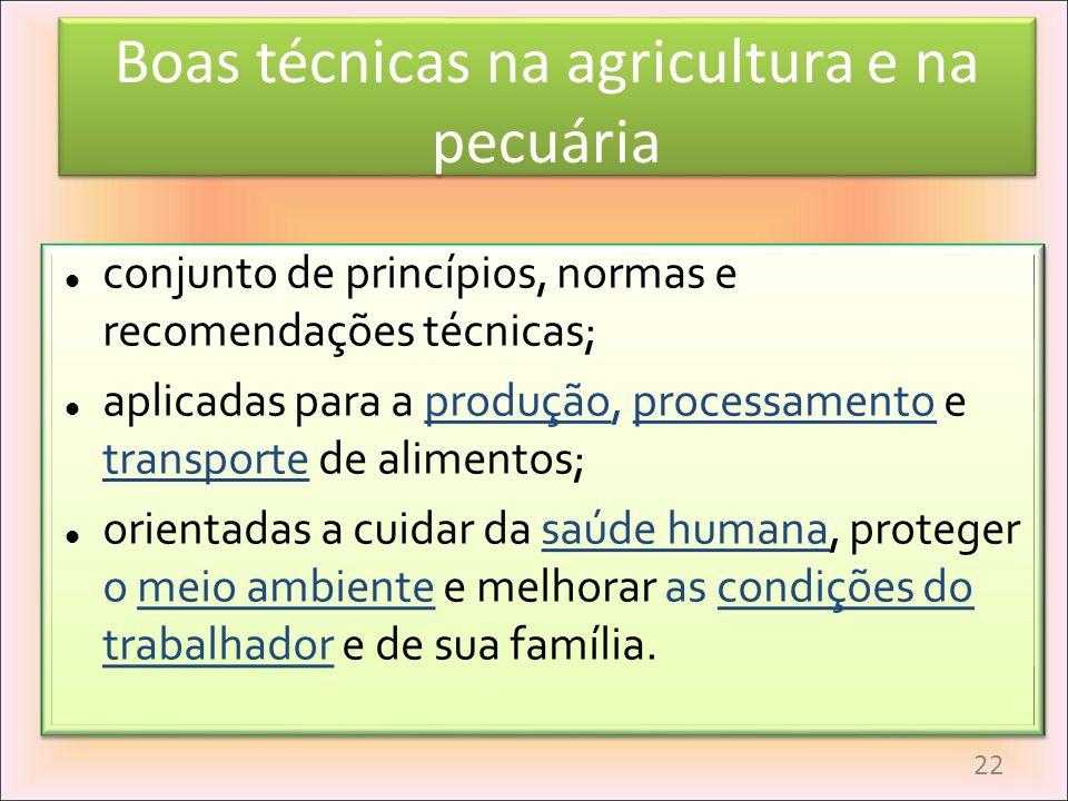 Boas técnicas na agricultura e na pecuária