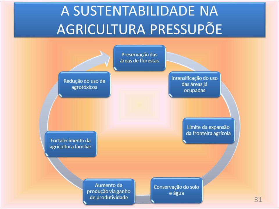 A SUSTENTABILIDADE NA AGRICULTURA PRESSUPÕE