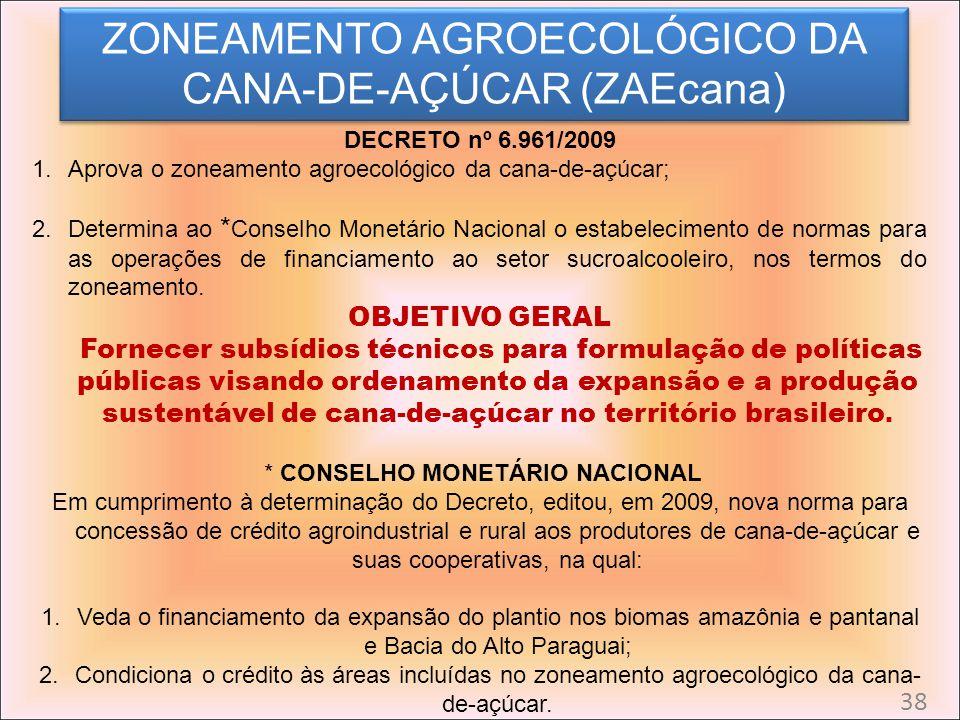 ZONEAMENTO AGROECOLÓGICO DA CANA-DE-AÇÚCAR (ZAEcana)
