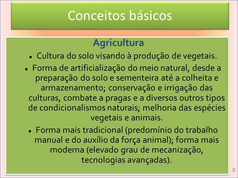 Cultura do solo visando à produção de vegetais.