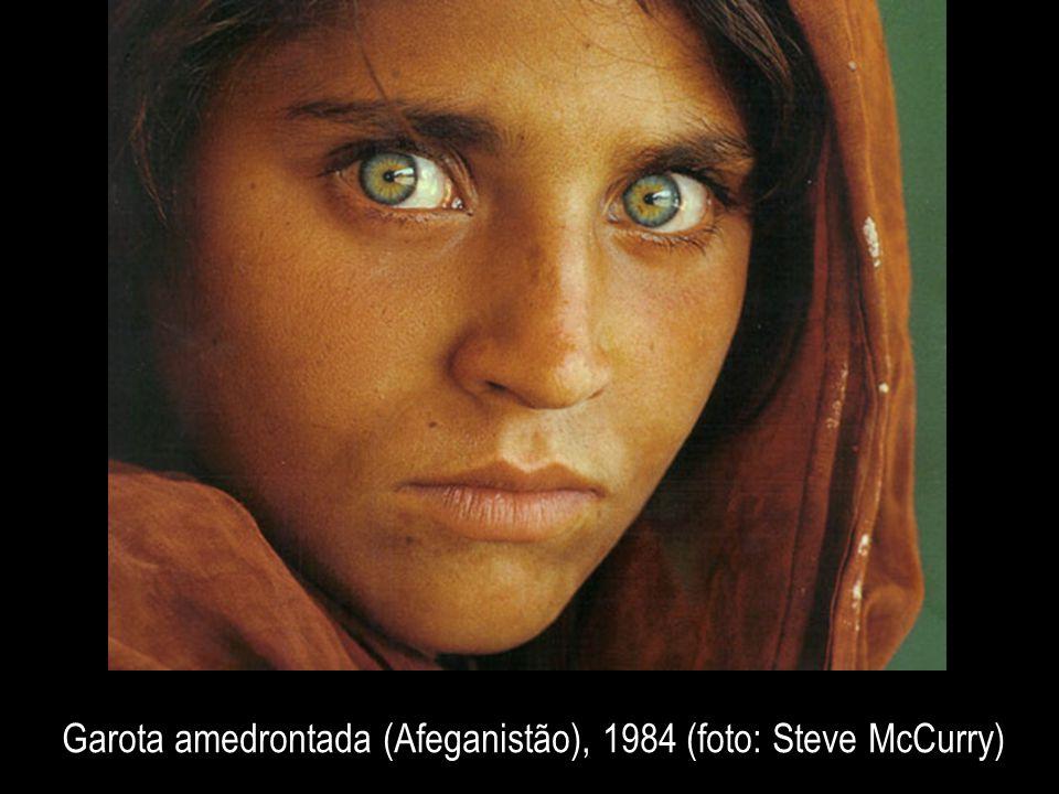 Garota amedrontada (Afeganistão), 1984 (foto: Steve McCurry)