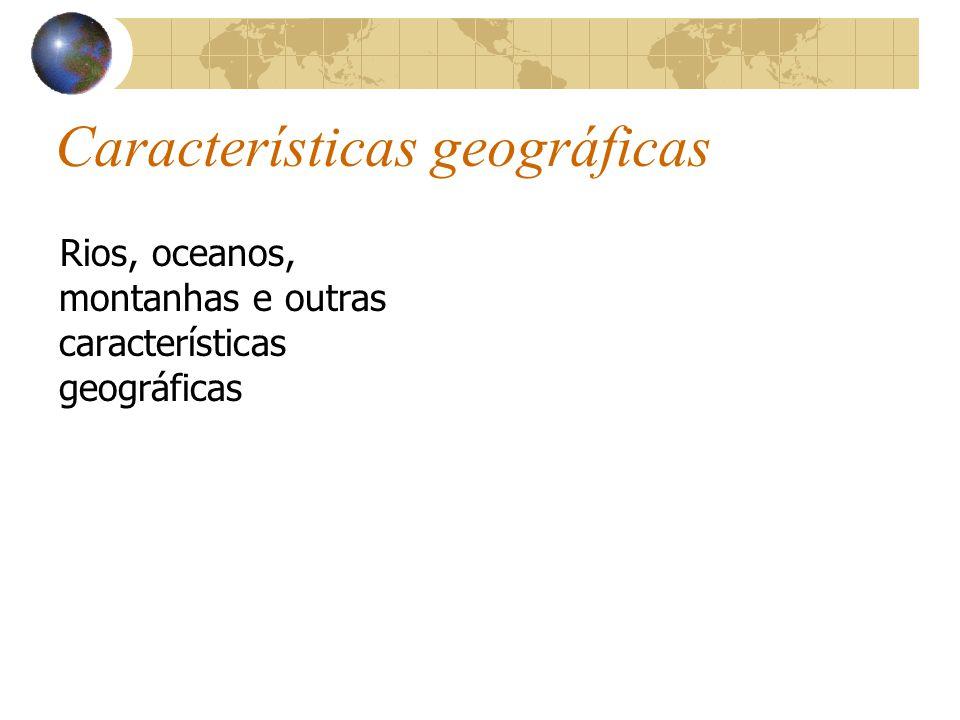 Características geográficas