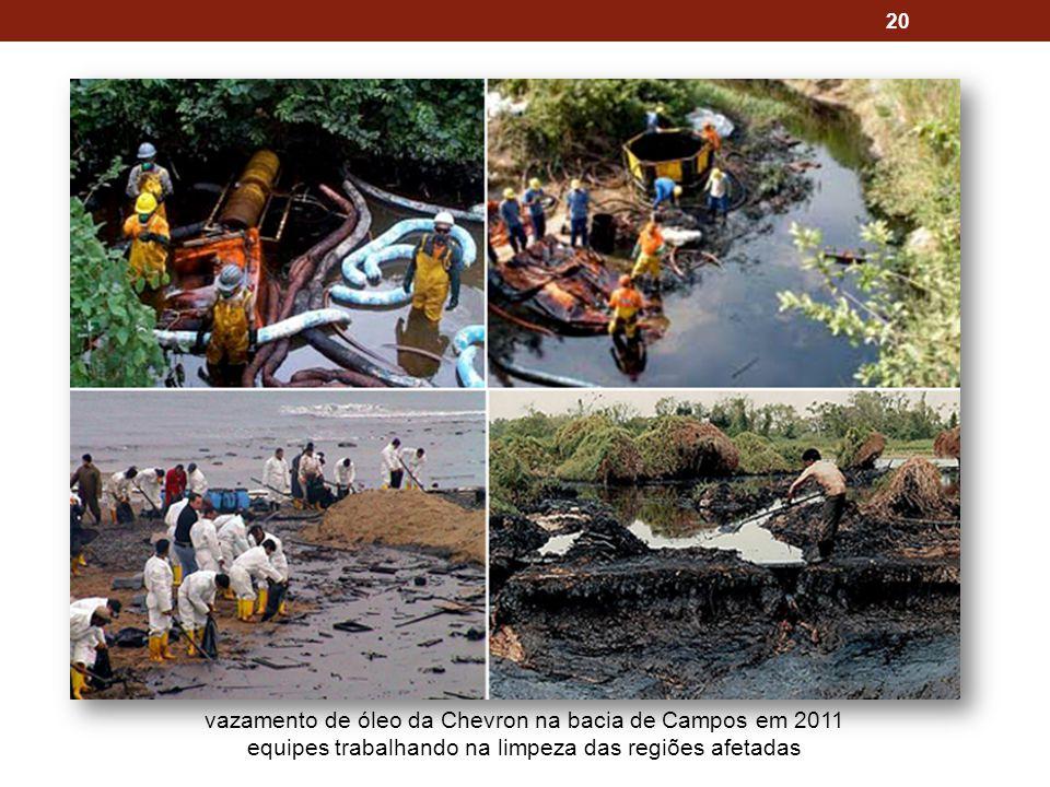 vazamento de óleo da Chevron na bacia de Campos em 2011