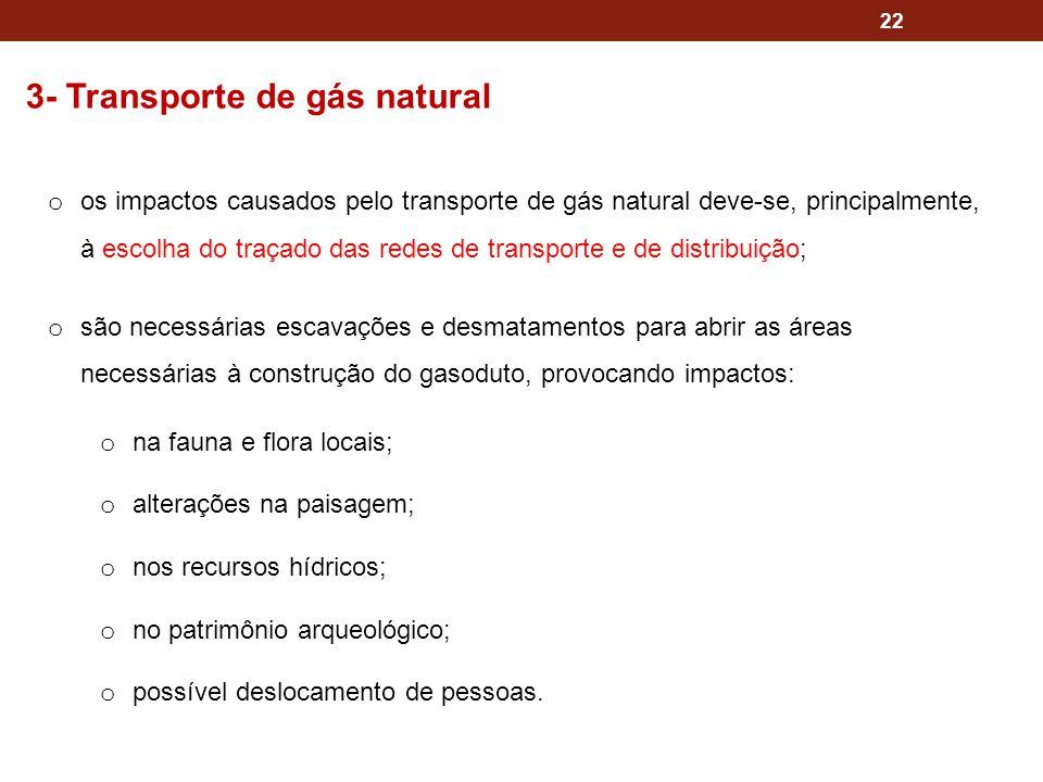 3- Transporte de gás natural