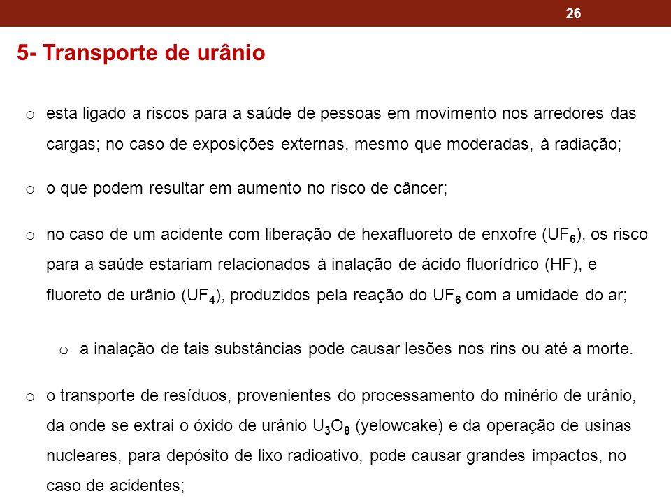 5- Transporte de urânio