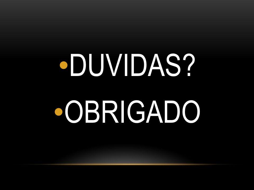 DUVIDAS OBRIGADO