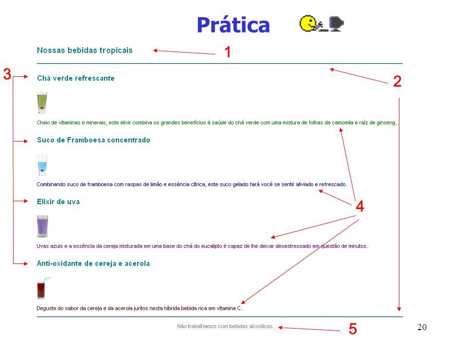 Prática 1 3 2 4 5