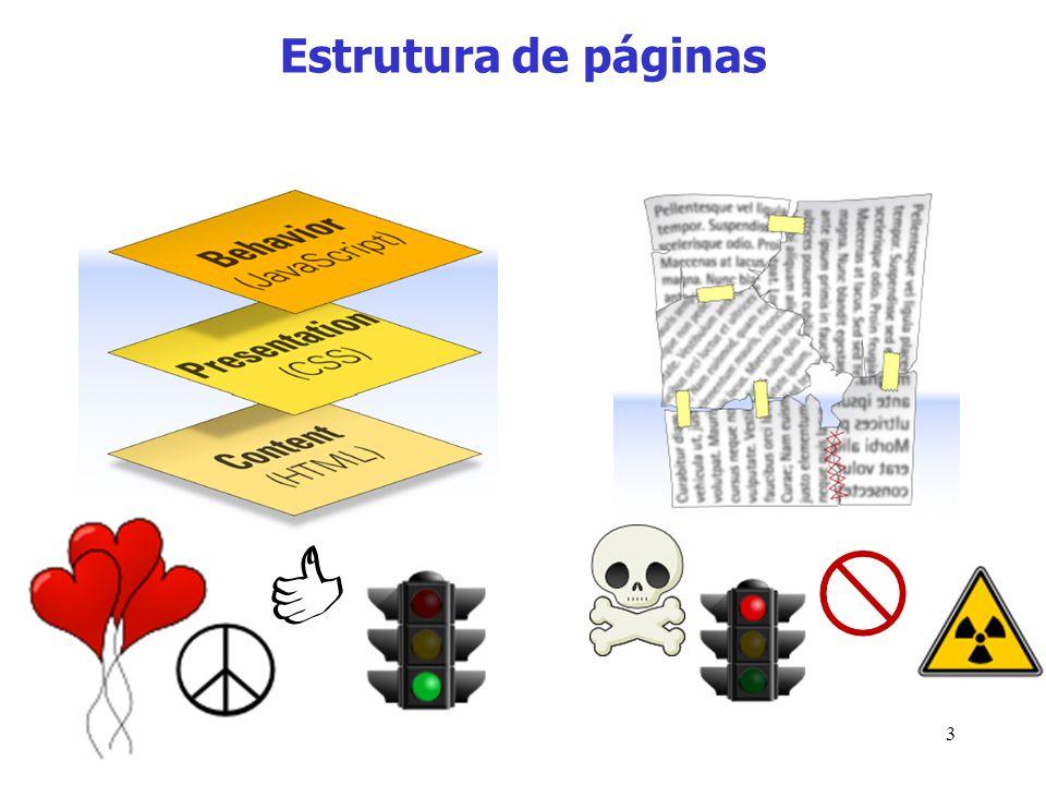 Estrutura de páginas