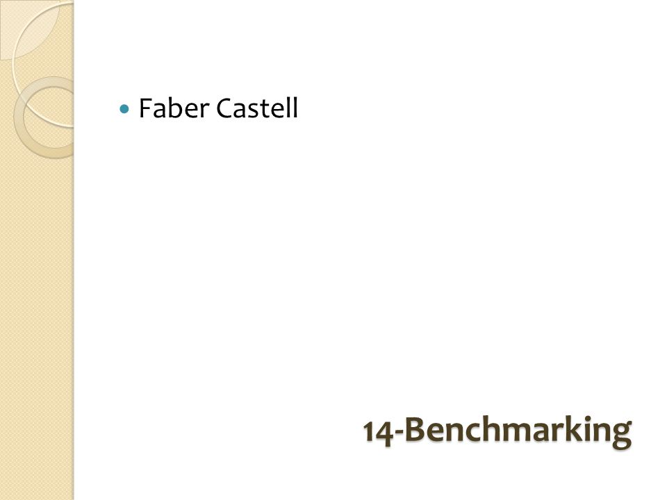 Faber Castell 14-Benchmarking