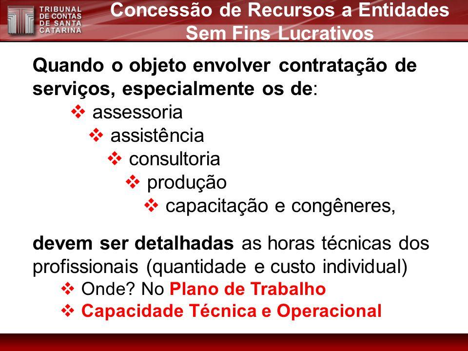 Concessão de Recursos a Entidades Sem Fins Lucrativos