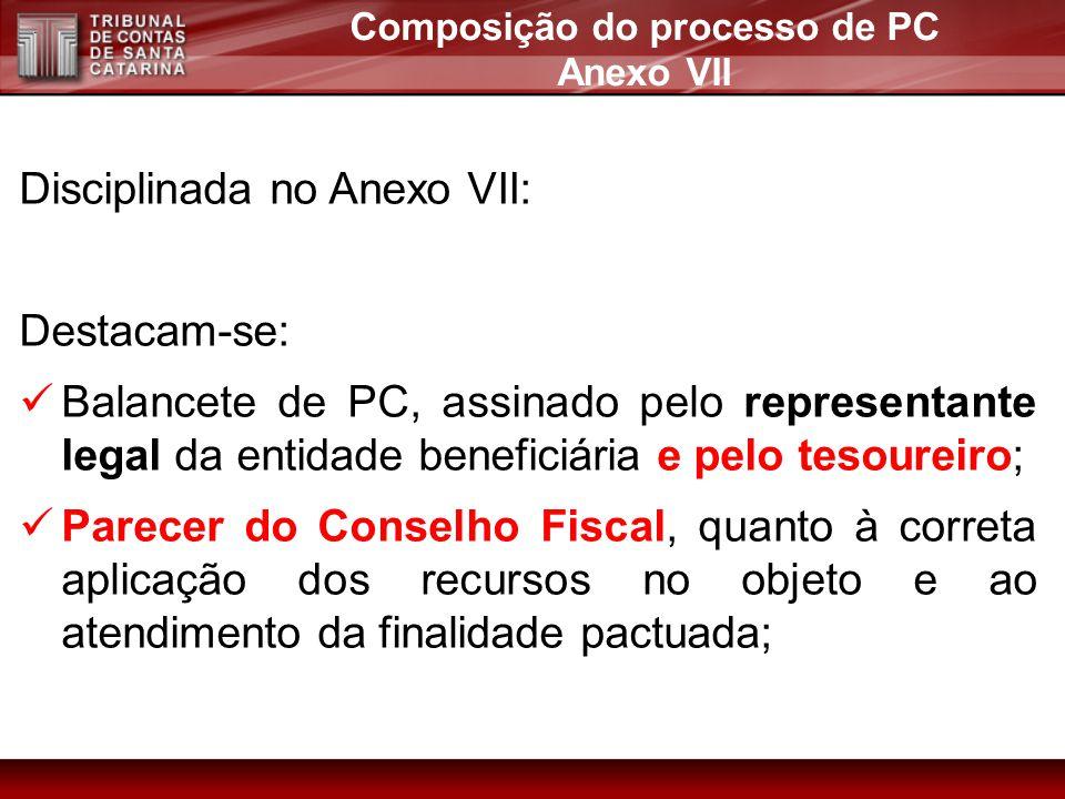 Composição do processo de PC