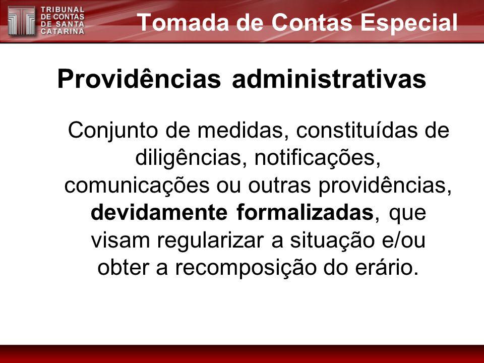 Tomada de Contas Especial Providências administrativas