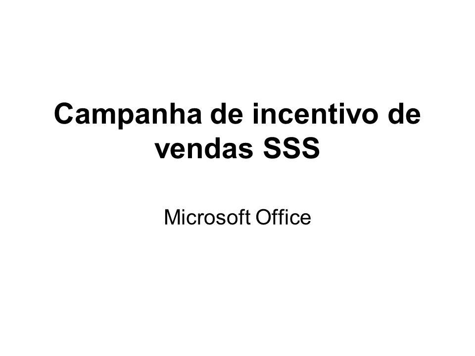 Campanha de incentivo de vendas SSS