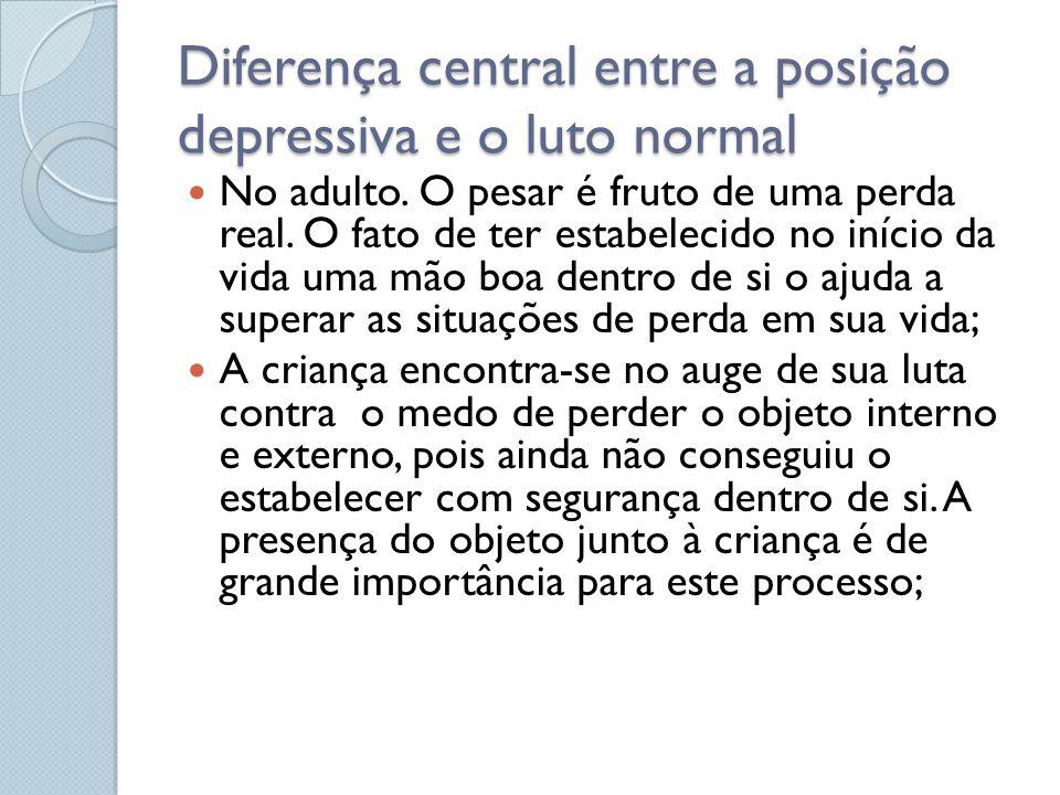 Diferença central entre a posição depressiva e o luto normal