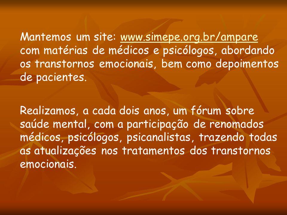 Mantemos um site: www.simepe.org.br/ampare