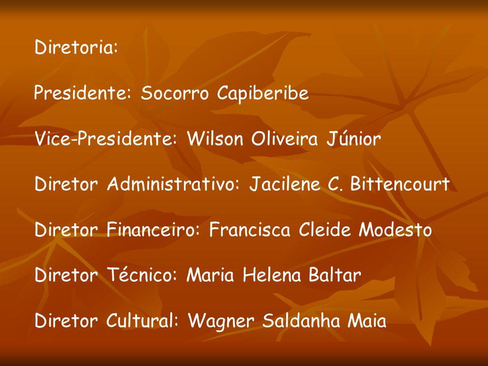 Diretoria: Presidente: Socorro Capiberibe. Vice-Presidente: Wilson Oliveira Júnior. Diretor Administrativo: Jacilene C. Bittencourt.