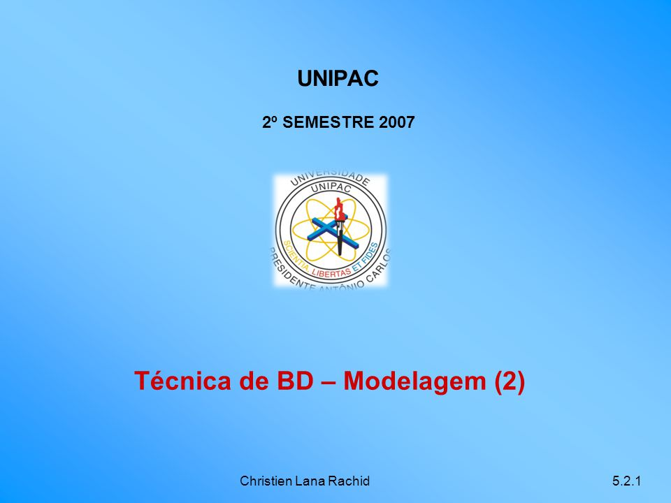 Técnica de BD – Modelagem (2)