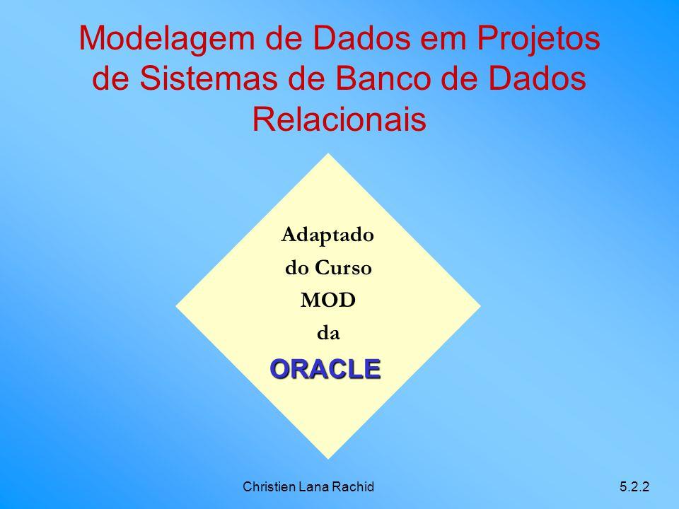 Modelagem de Dados em Projetos de Sistemas de Banco de Dados Relacionais