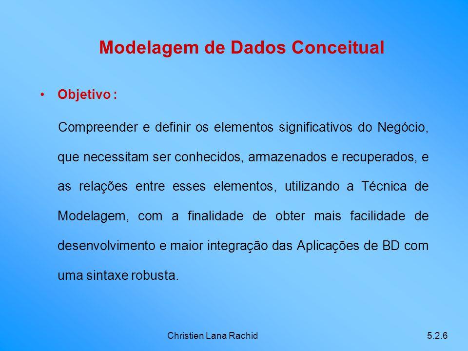 Modelagem de Dados Conceitual