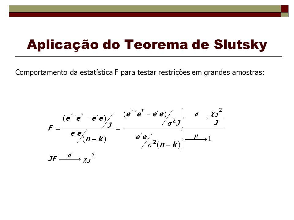 Aplicação do Teorema de Slutsky