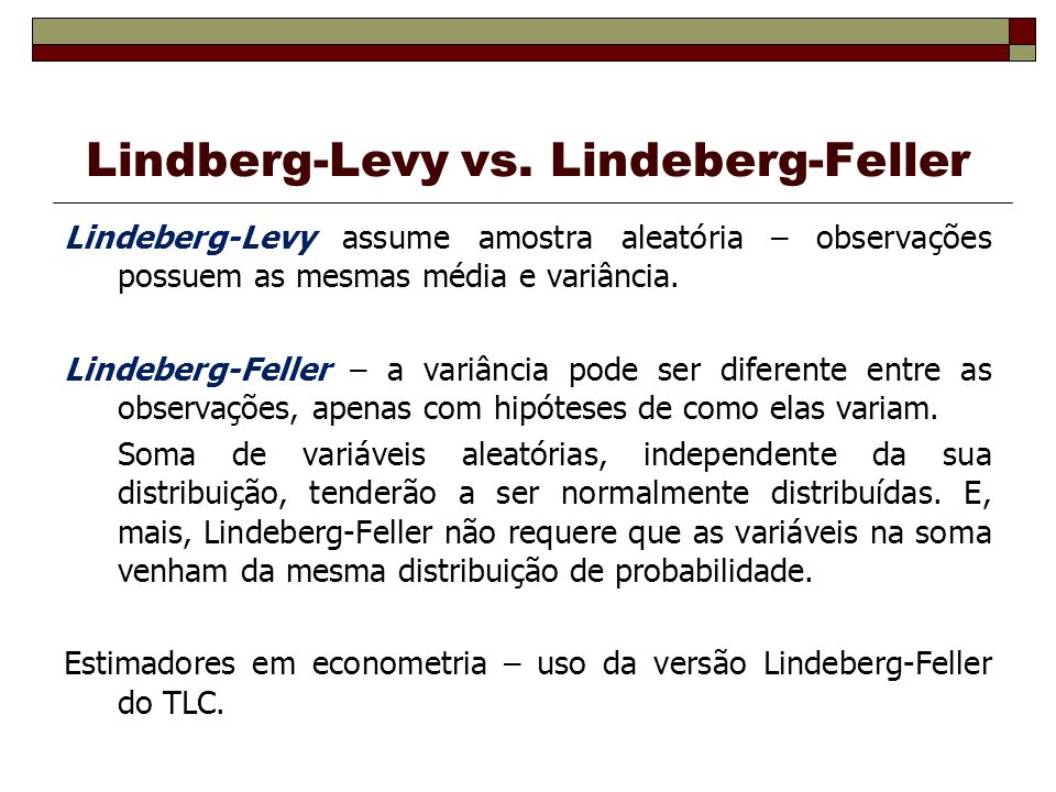Lindberg-Levy vs. Lindeberg-Feller