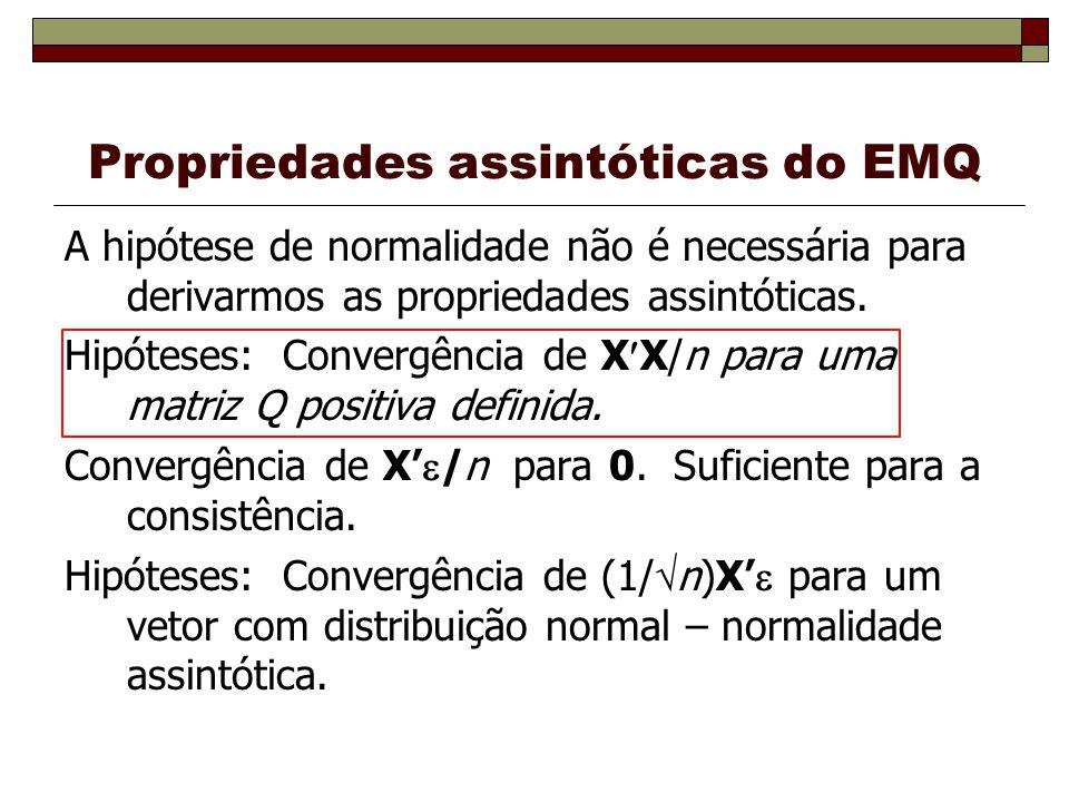 Propriedades assintóticas do EMQ