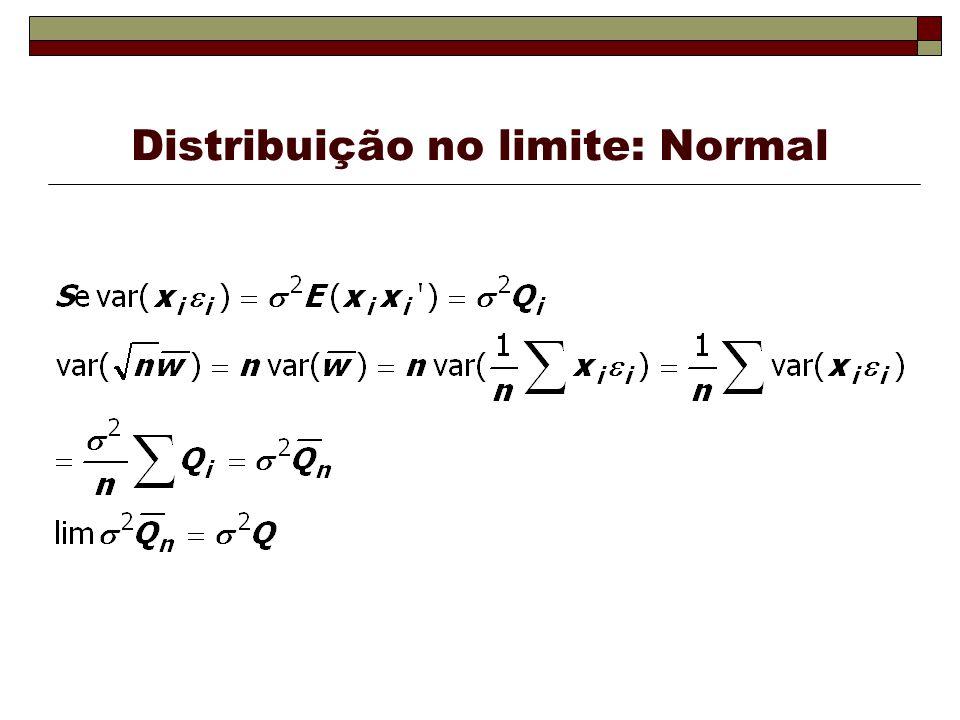 Distribuição no limite: Normal