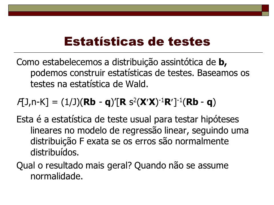 Estatísticas de testes