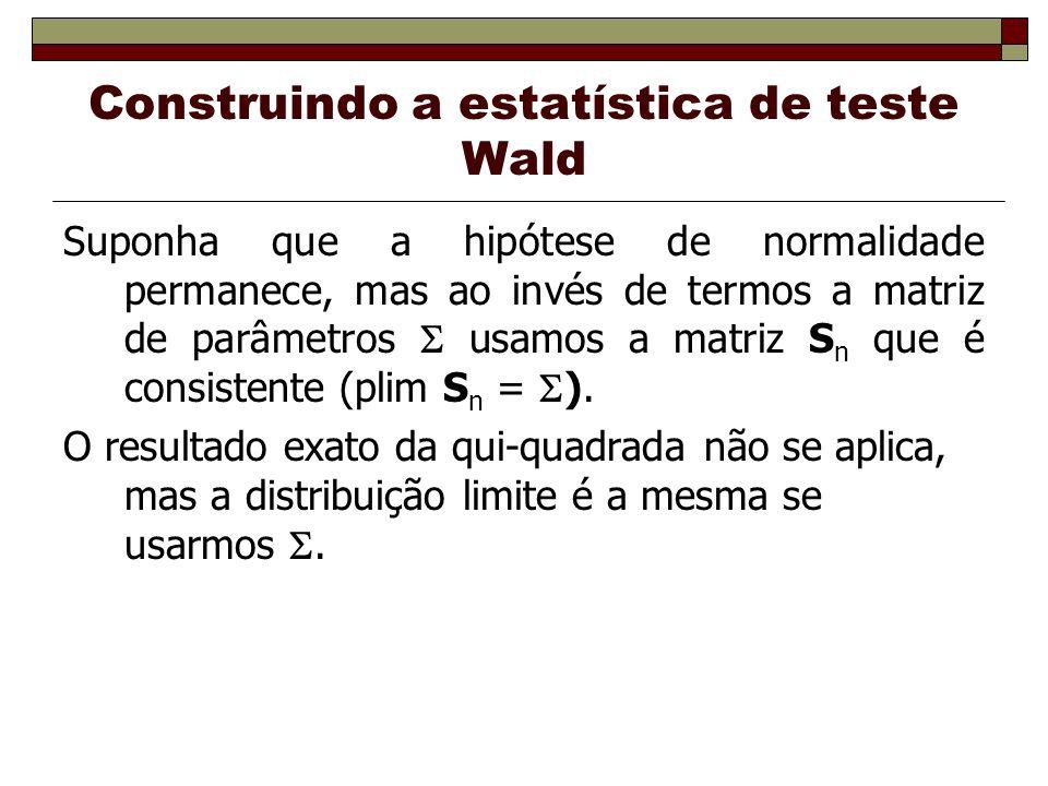 Construindo a estatística de teste Wald