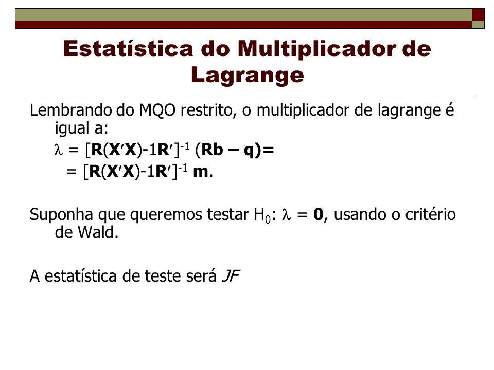 Estatística do Multiplicador de Lagrange