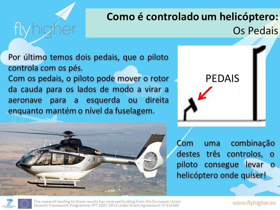 Como é controlado um helicóptero: Os Pedais
