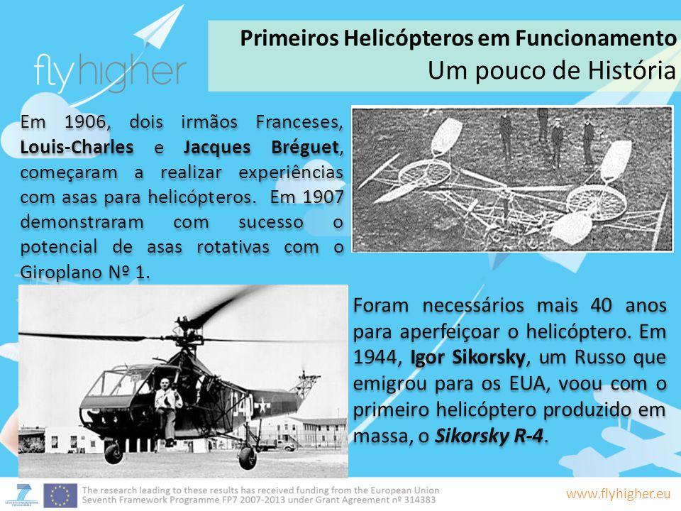 Um pouco de História Primeiros Helicópteros em Funcionamento