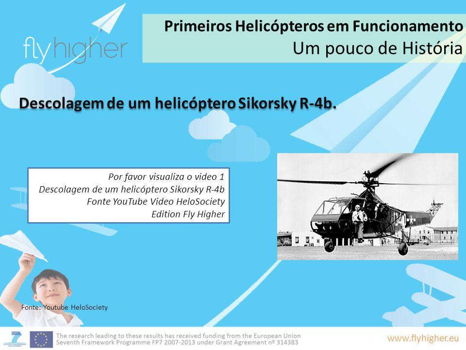Descolagem de um helicóptero Sikorsky R-4b.