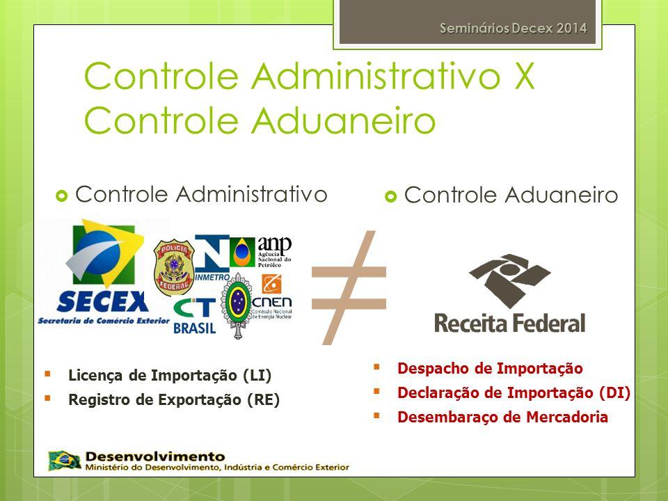 Controle Administrativo X Controle Aduaneiro