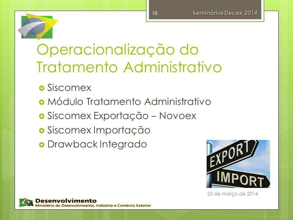 Operacionalização do Tratamento Administrativo