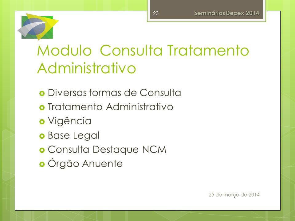 Modulo Consulta Tratamento Administrativo