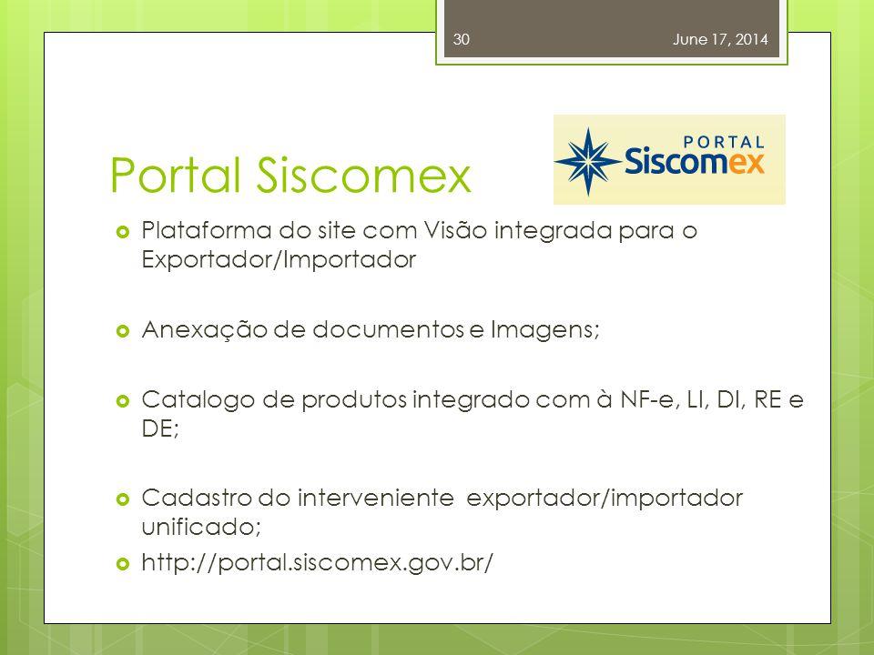 April 2, 2017 Portal Siscomex. Plataforma do site com Visão integrada para o Exportador/Importador.