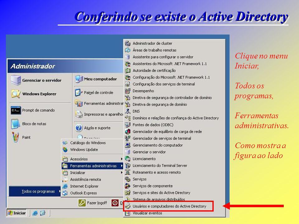 Conferindo se existe o Active Directory