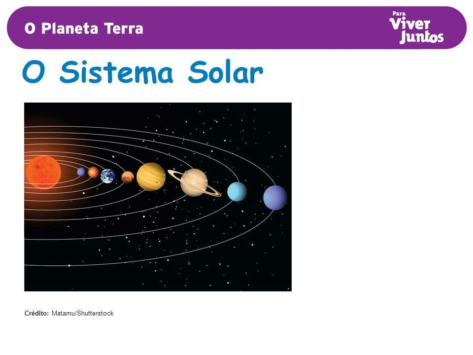 O Sistema Solar Crédito: Matamu/Shutterstock