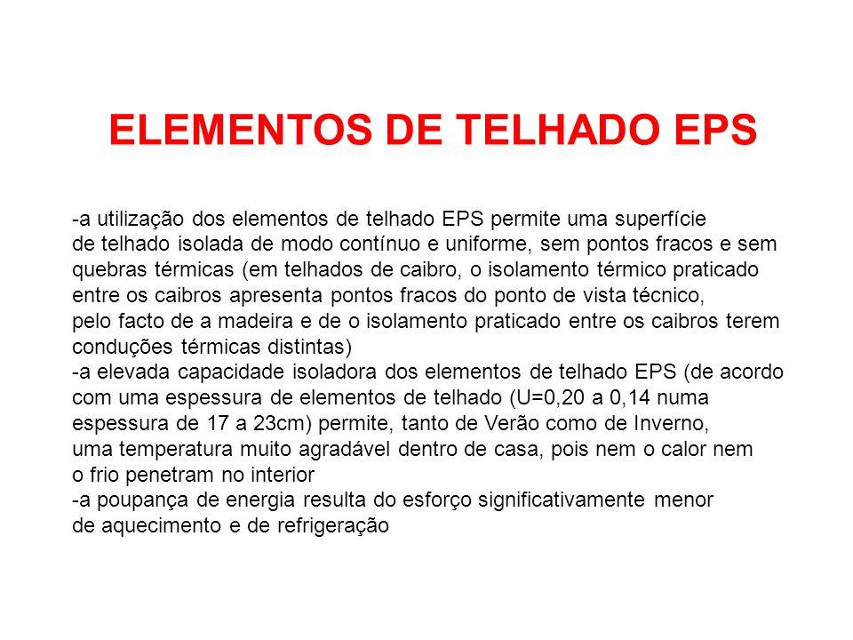 ELEMENTOS DE TELHADO EPS