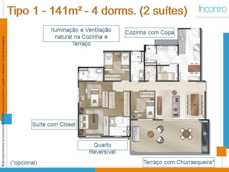 Tipo 1 - 141m² - 4 dorms. (2 suítes)