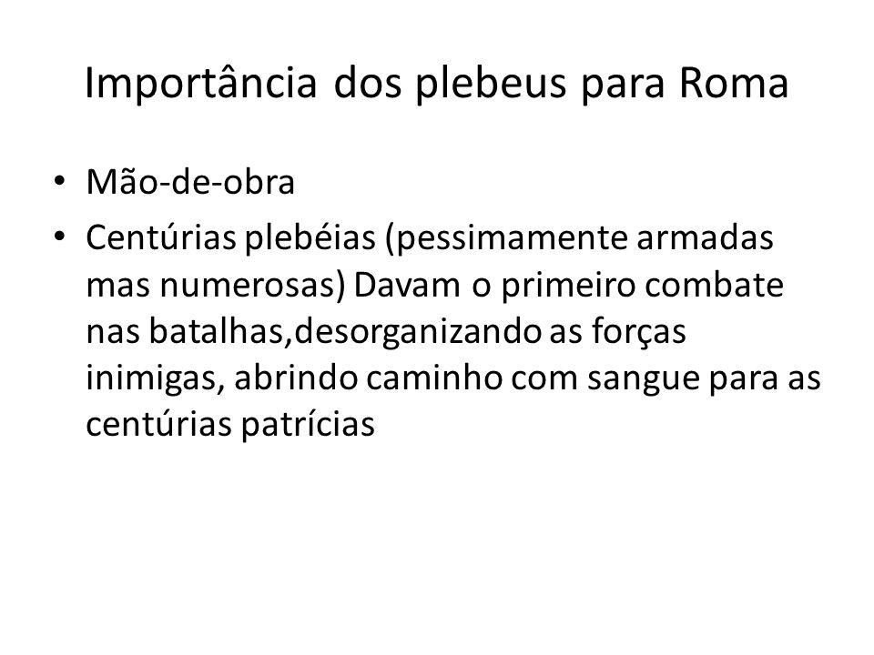 Importância dos plebeus para Roma