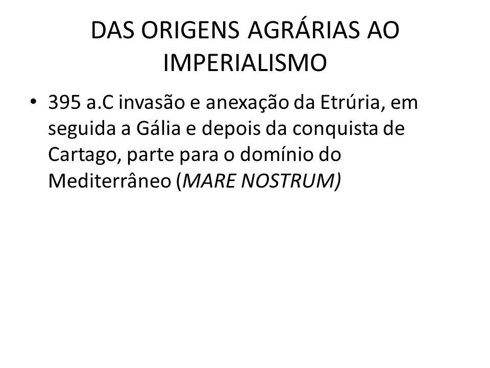 DAS ORIGENS AGRÁRIAS AO IMPERIALISMO