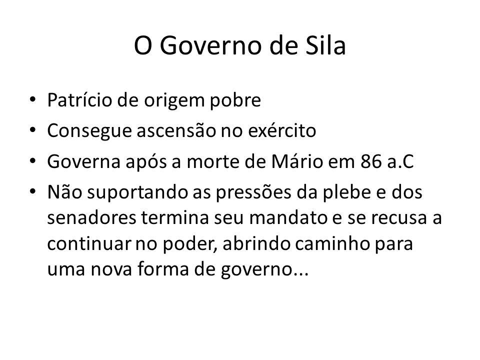 O Governo de Sila Patrício de origem pobre