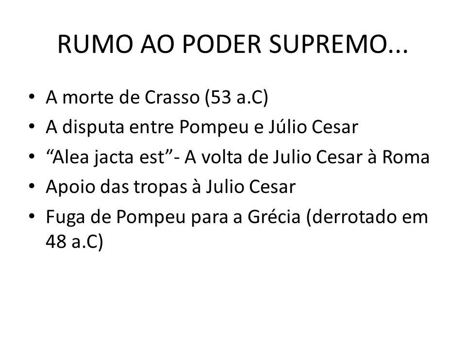 RUMO AO PODER SUPREMO... A morte de Crasso (53 a.C)