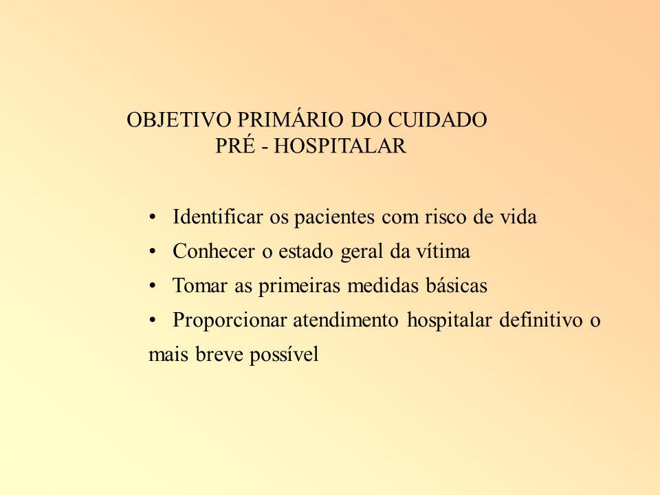 OBJETIVO PRIMÁRIO DO CUIDADO