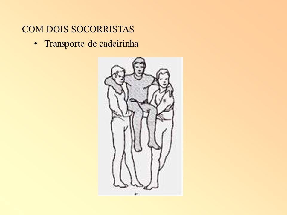 COM DOIS SOCORRISTAS Transporte de cadeirinha