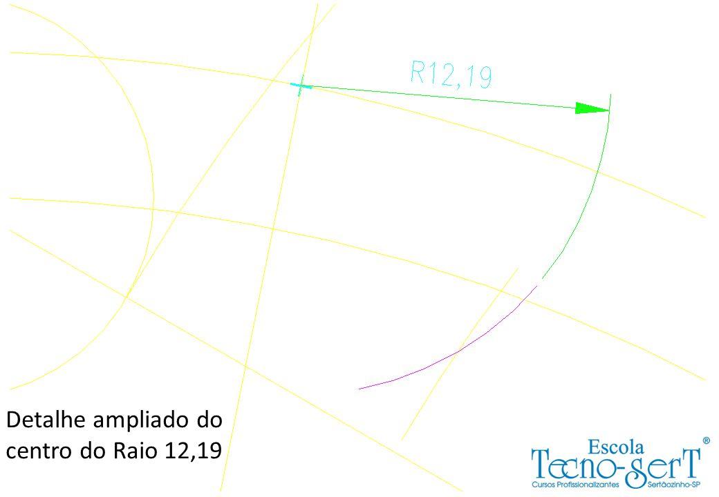 Detalhe ampliado do centro do Raio 12,19