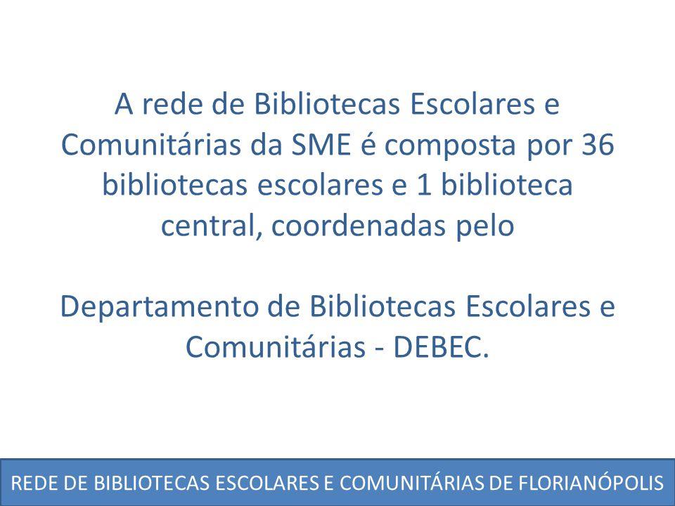 Departamento de Bibliotecas Escolares e Comunitárias - DEBEC.