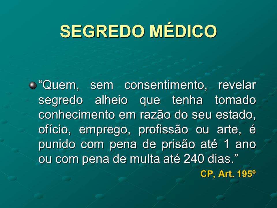 SEGREDO MÉDICO